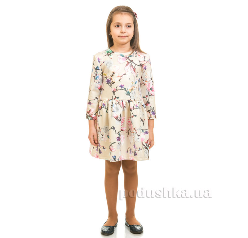 Платье Магнолия Kids Couture бежевое