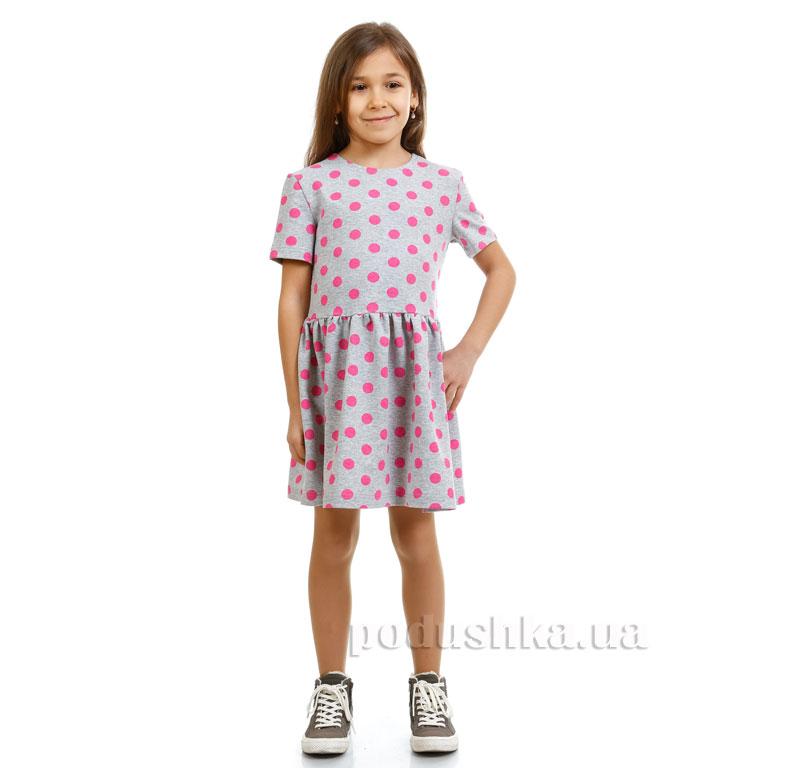 Платье Малиновый горох Kids Couture серое