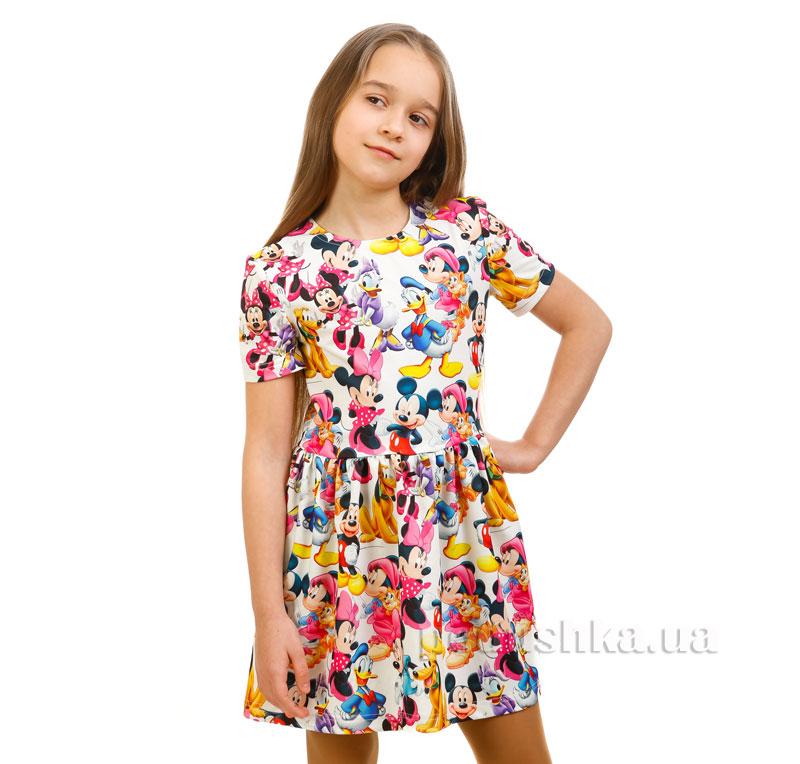 Платье Дональд Дак Kids Couture белое