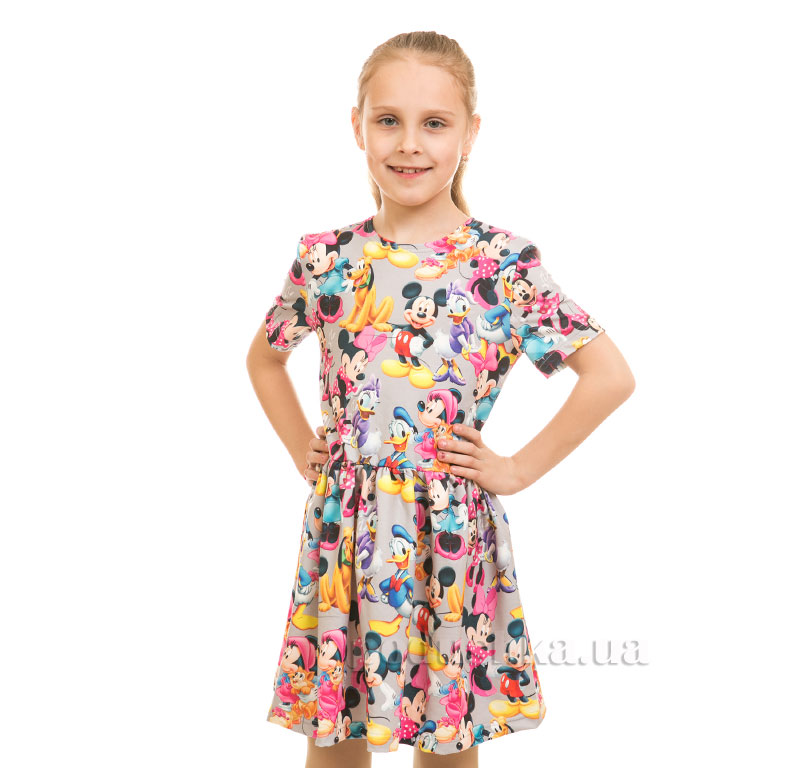 Платье Мики Маус Kids Couture серое