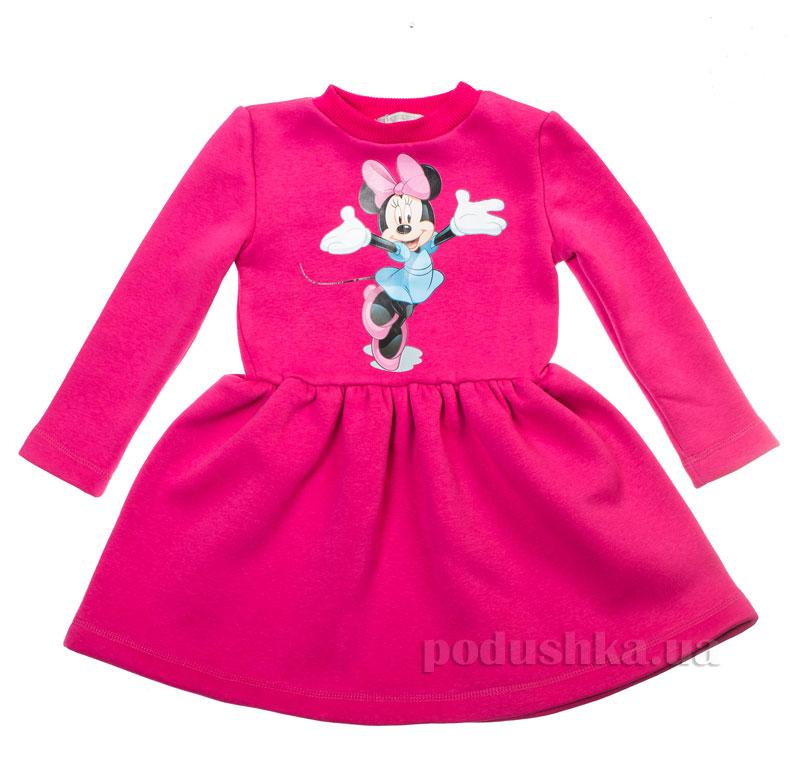 Платье с Мики Маусом Kids Couture 16-07 малиновое