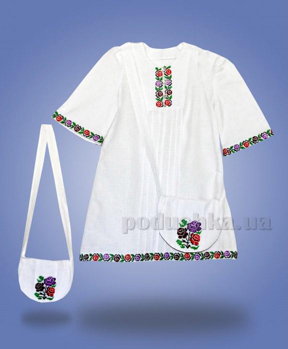 Платье с вышивкой и сумочкой Сварга Радуга