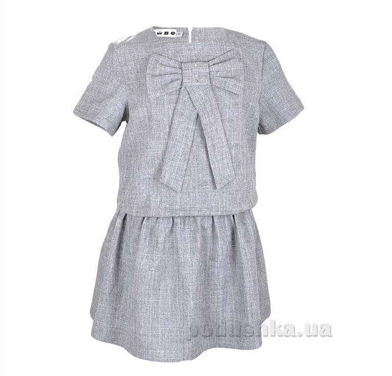 Платье школьное Belle Elsa P025988 серое
