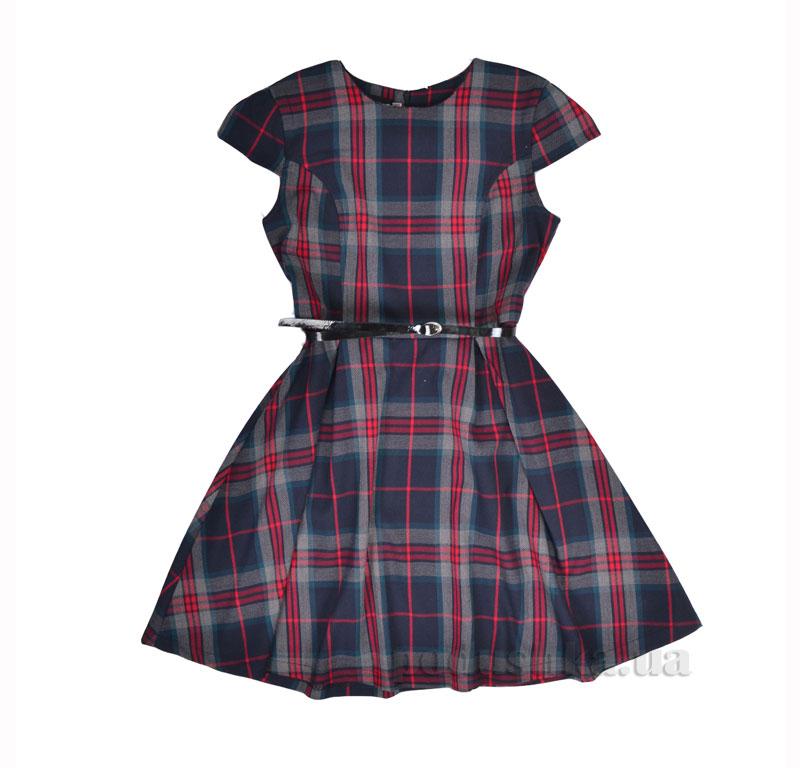 Платье школьное Belle Timbo P025407 синее в клетку