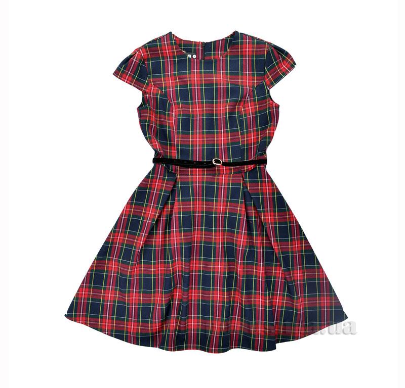 Платье школьное Belle Timbo P025636 красное в клетку