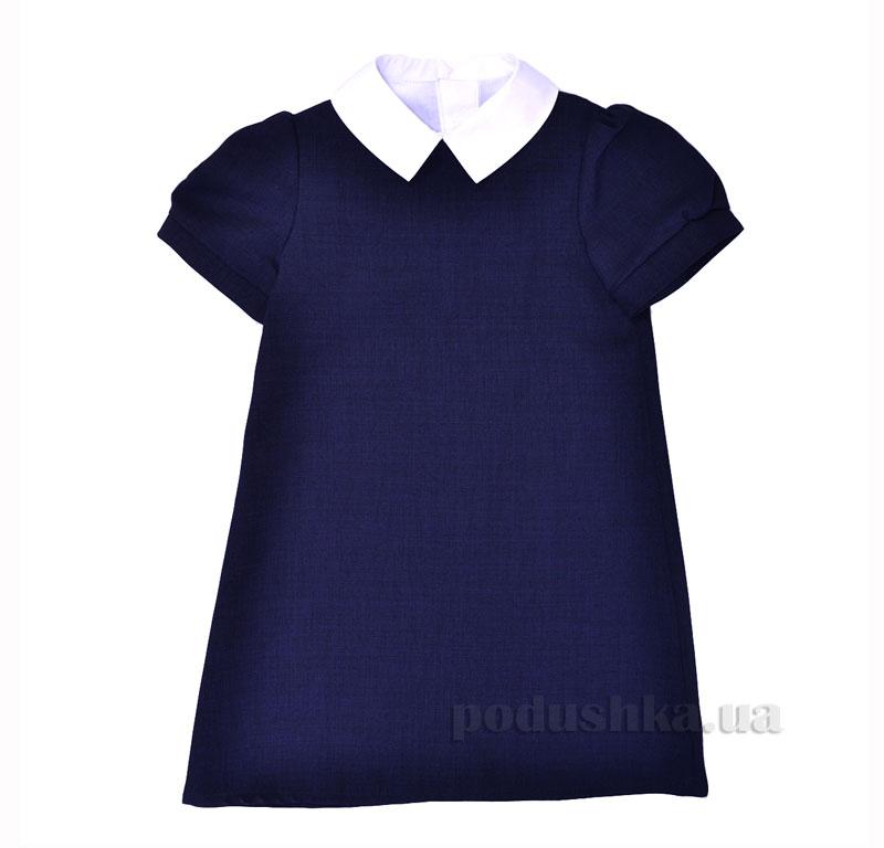 Платье школьное с манишкой Ella Timbo P025957 синее