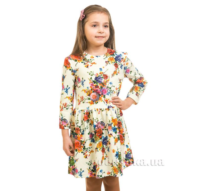 Платье Цветы Kids Couture молочное
