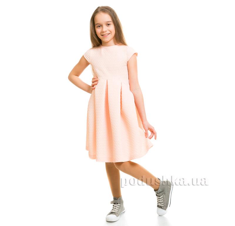 Платье вафелька Kids Couture 1-001а персиковое