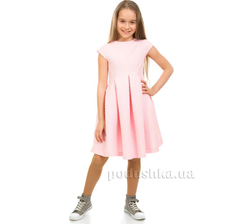 Платье вафелька Kids Couture 1-001а розовое