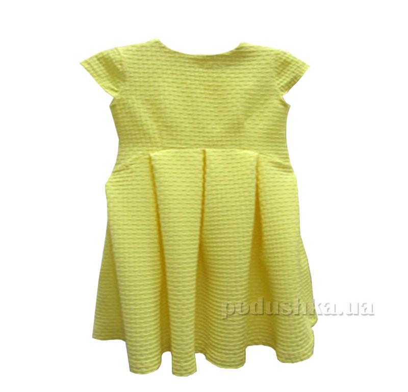 Платье вафелька Kids Couture 1-001а желтое