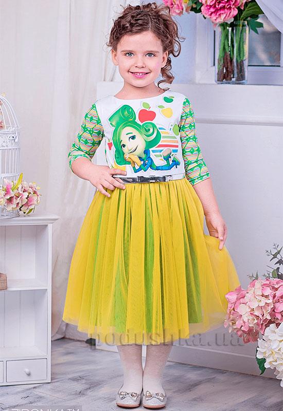 Платье Zironka Фиксики 113-2 желтое