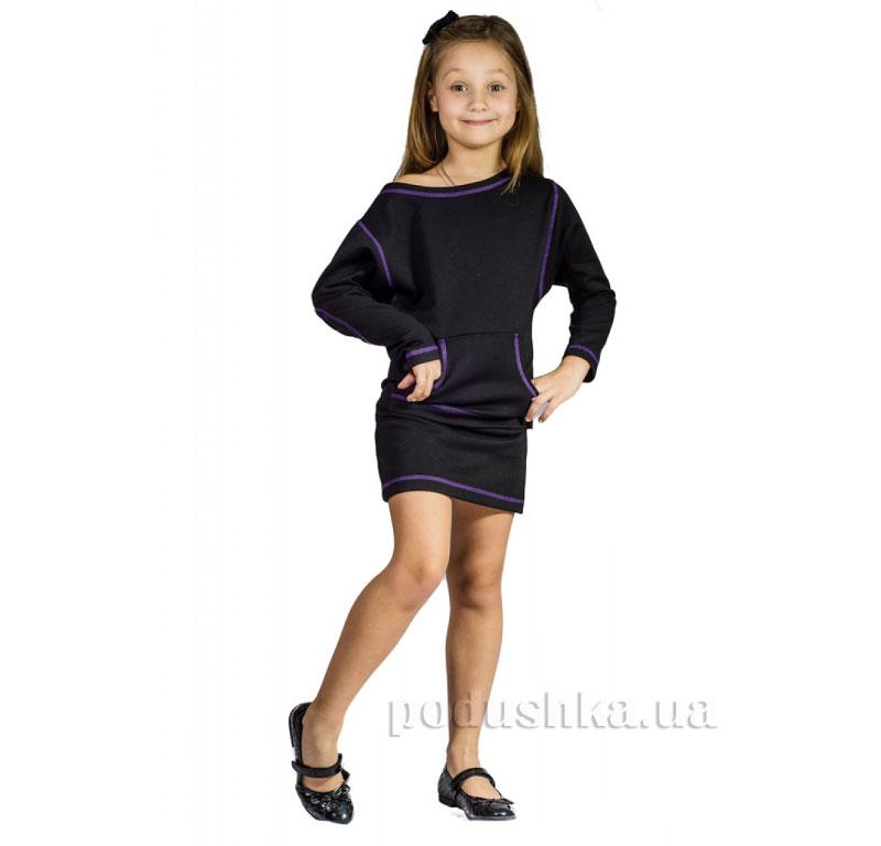 Платье-туника трикотажная Kids Couture черная 32  Kids Couture