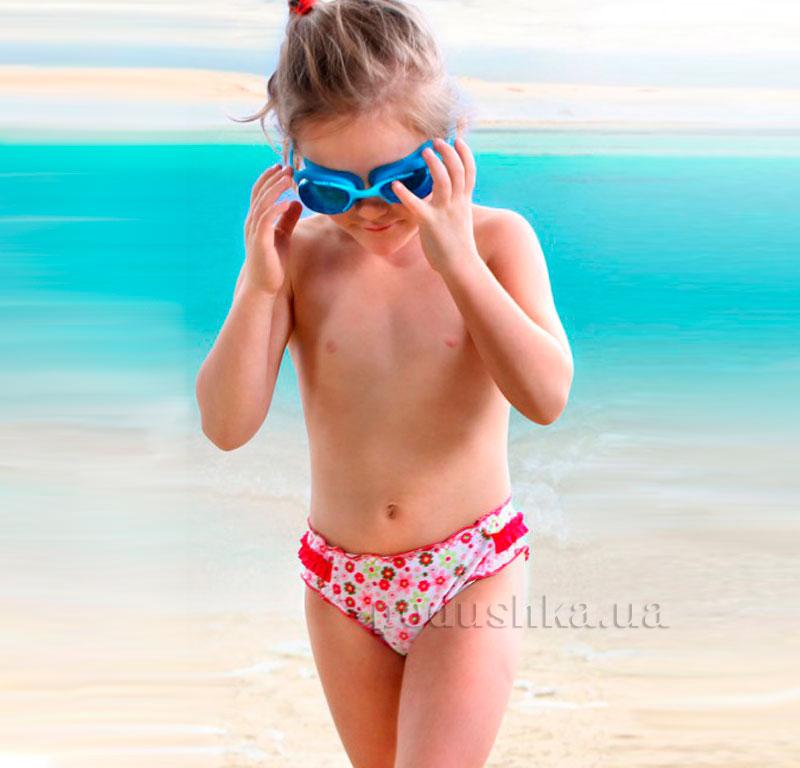 Плавки для девочки Baby Keyzi бело-розовые