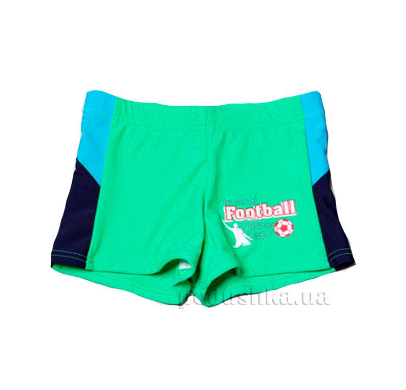 Плавки для мальчика Football Keyzi зеленые с голубым