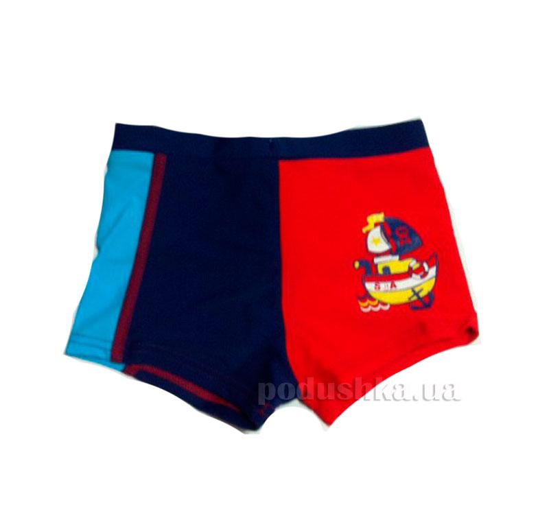 Плавки для мальчика Sea Keyzi синие с красным