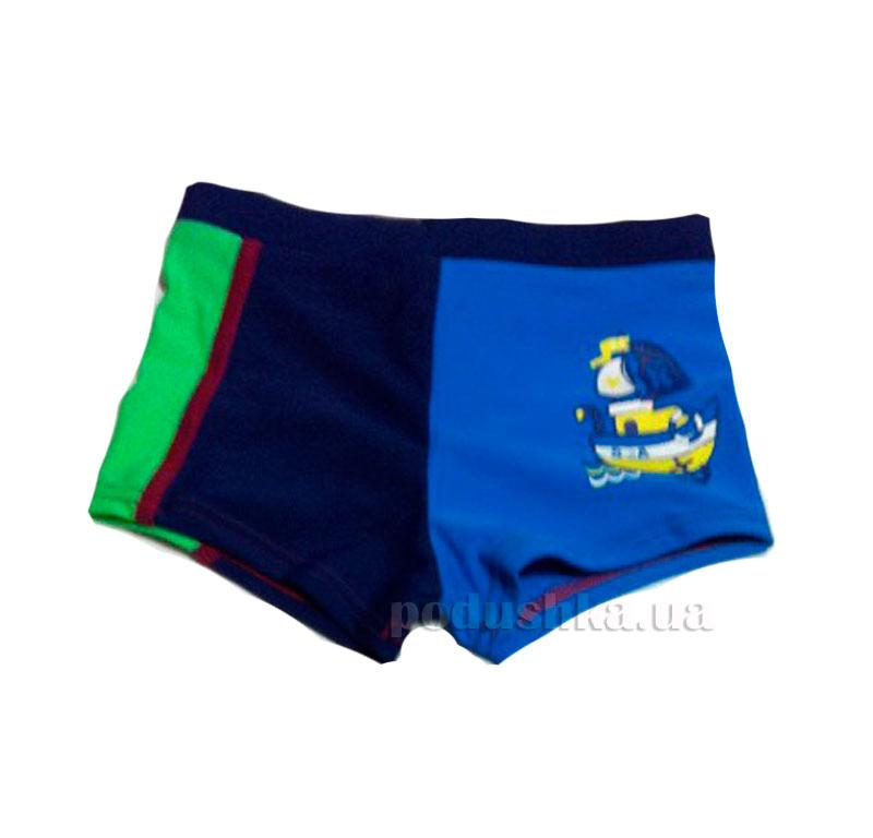 Плавки для мальчика Sea Keyzi синие с зеленым