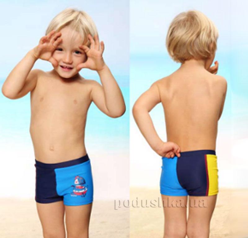 Плавки для мальчика Sea Keyzi синие с желтым