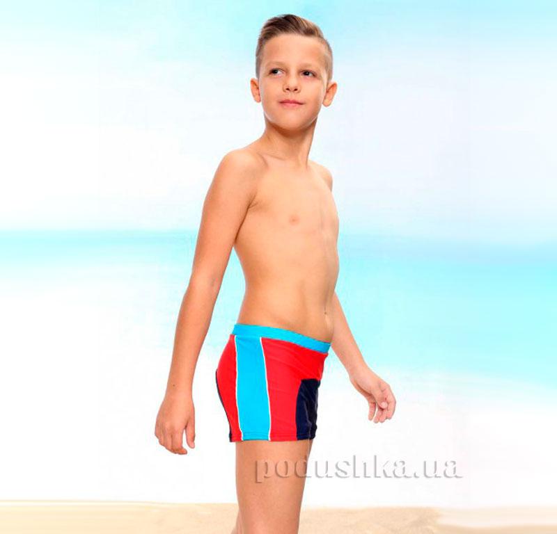 Плавки для мальчика Urban Keyzi синие с красным