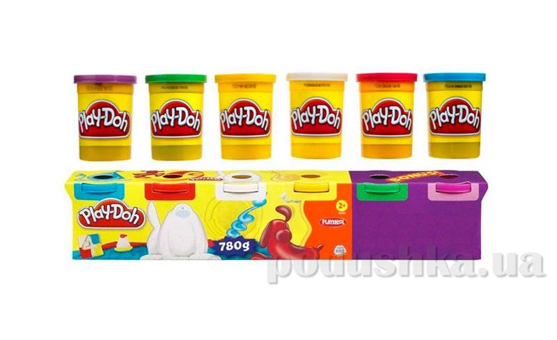 Play-Doh Набор пластилина 6 банок Hasbro 23565