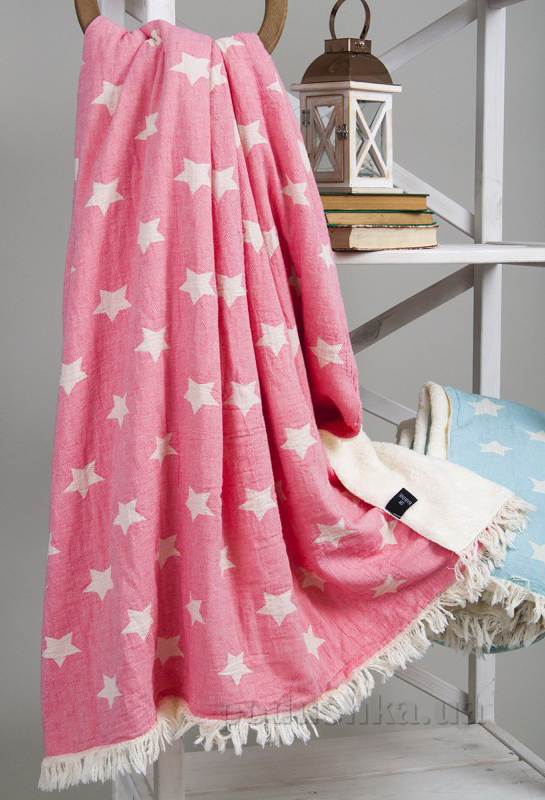 Плед Barine Rug Star Throw Pembe микроплюш