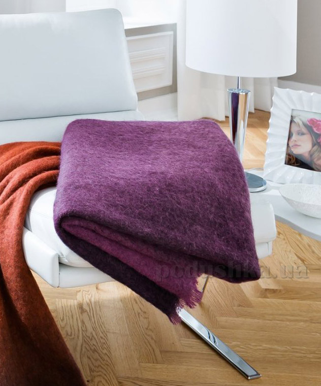 Плед Bocasa Mohair-plaid berry 650146