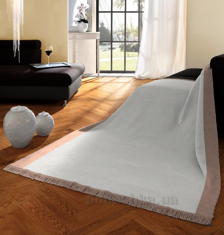 Плед Bocasa Orion cotton plus Silber 629500