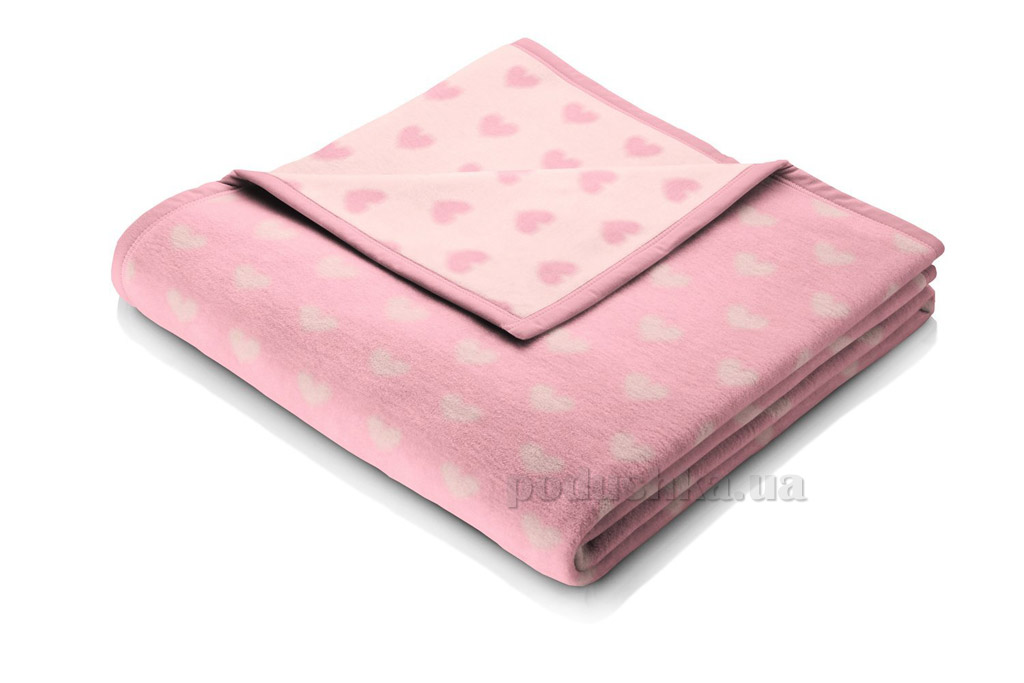 Плед детский Bocasa Baby cotton Herzblatt 649713 75х100 см  Biederlack Borbo-Bocasa
