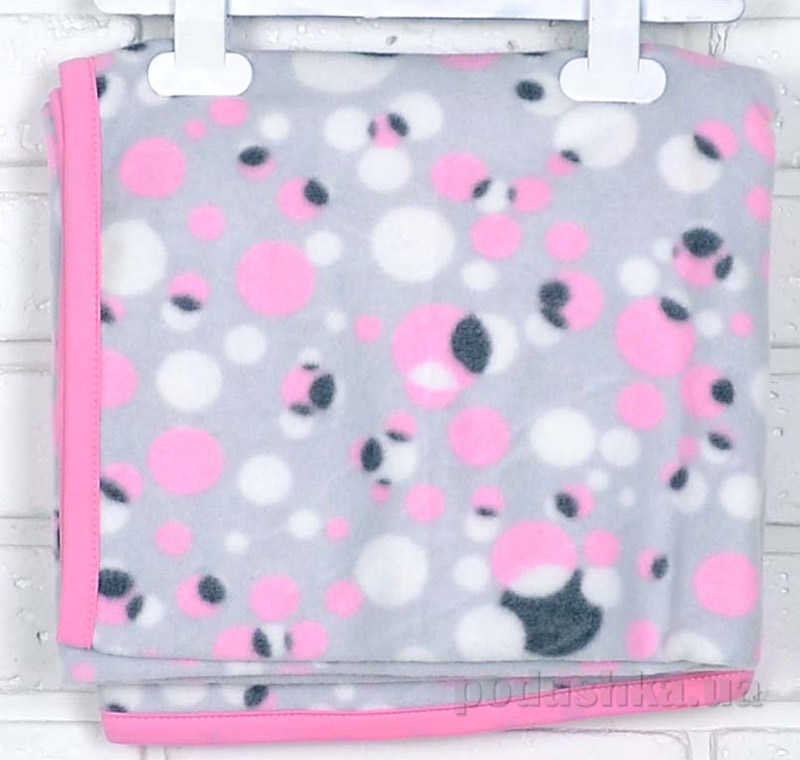 Плед детский флисовый Татошка И-6 розовая бейка