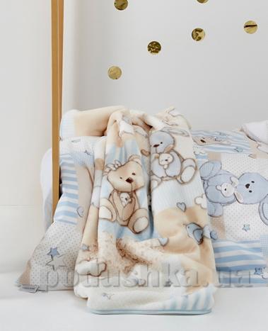 Плед детский Karaca Honey Bunny mavi 100х120 см  Karaca home