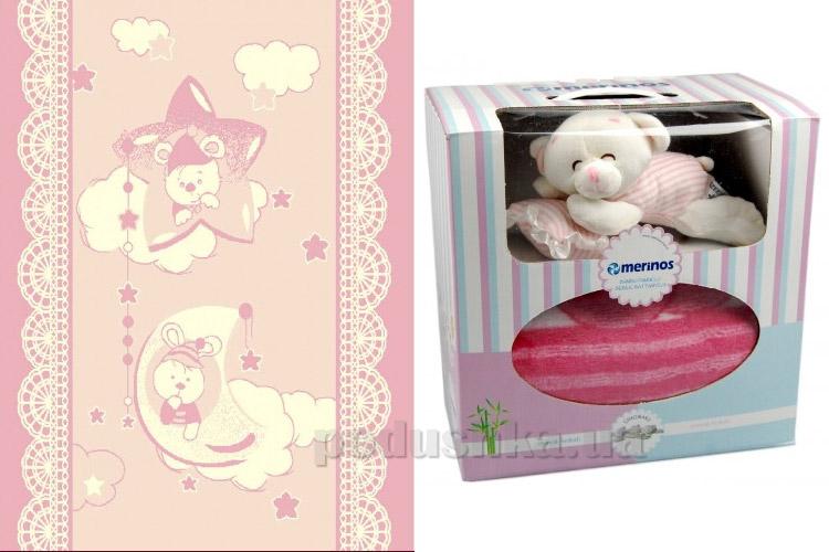 Плед детский Merinos Pio Pio pink с игрушкой