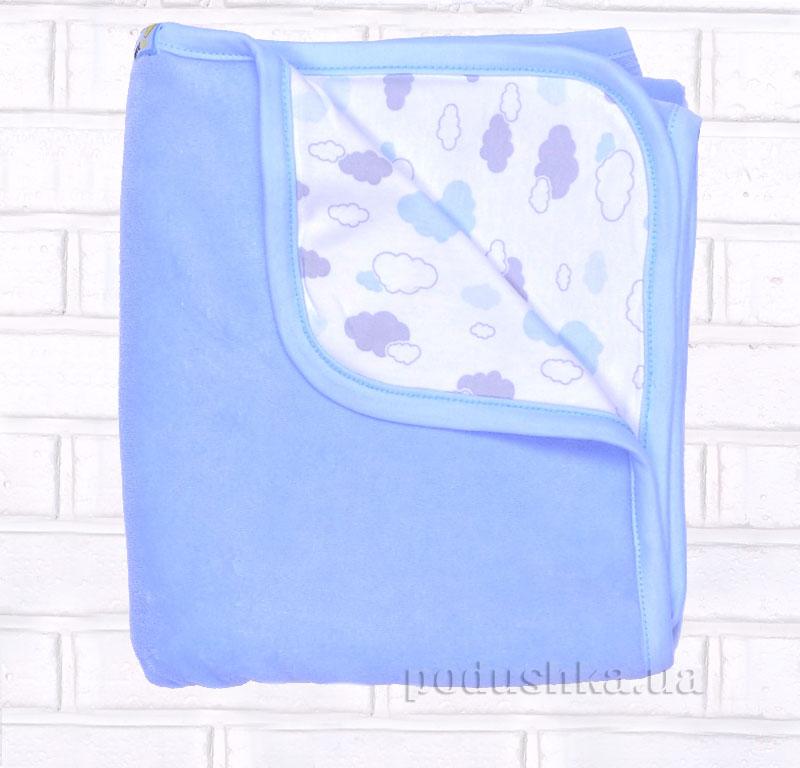 Плед детский велюровый Татошка И-7 голубой Тучки   Татошка