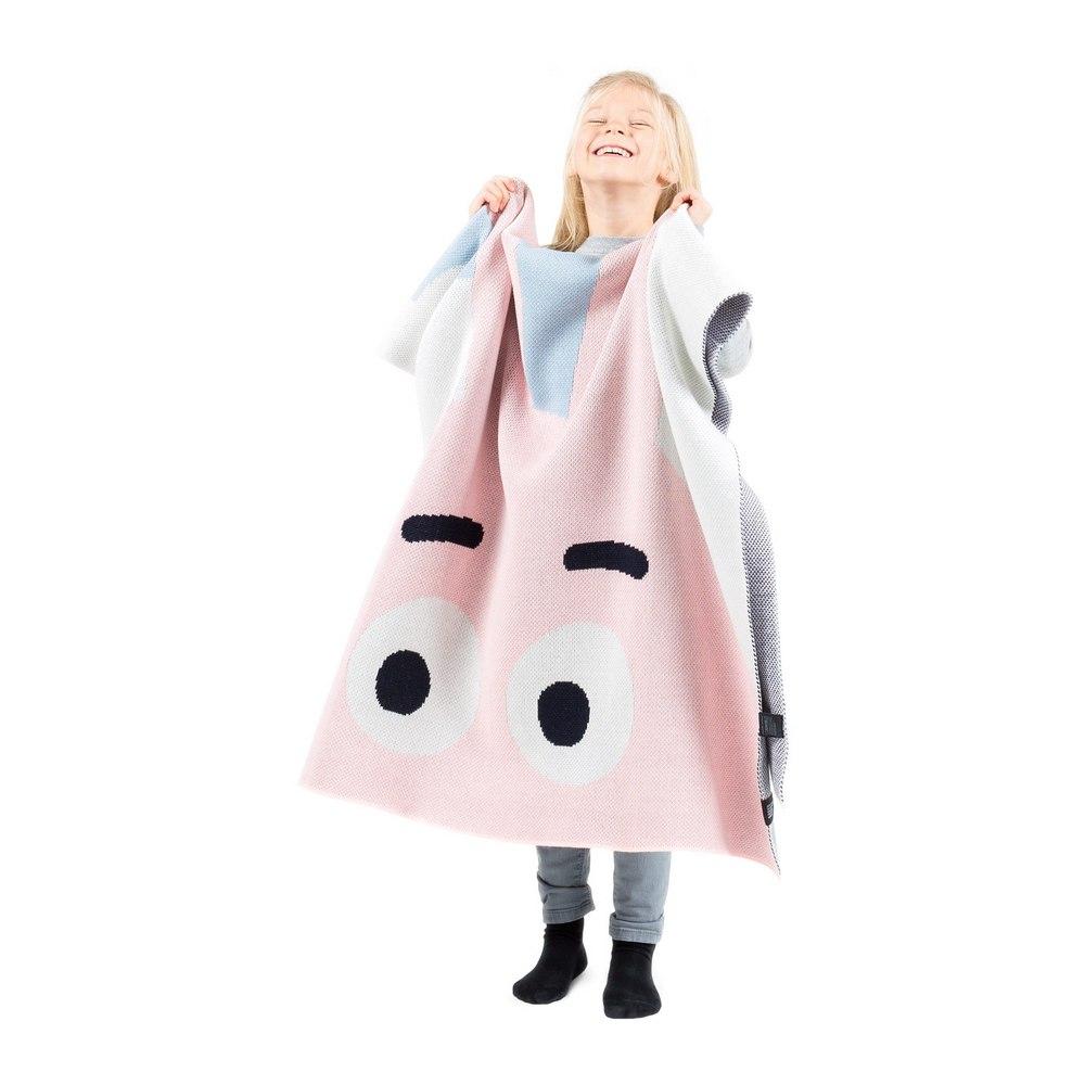 Плед детский Woolkrafts Bunny розово-голубой
