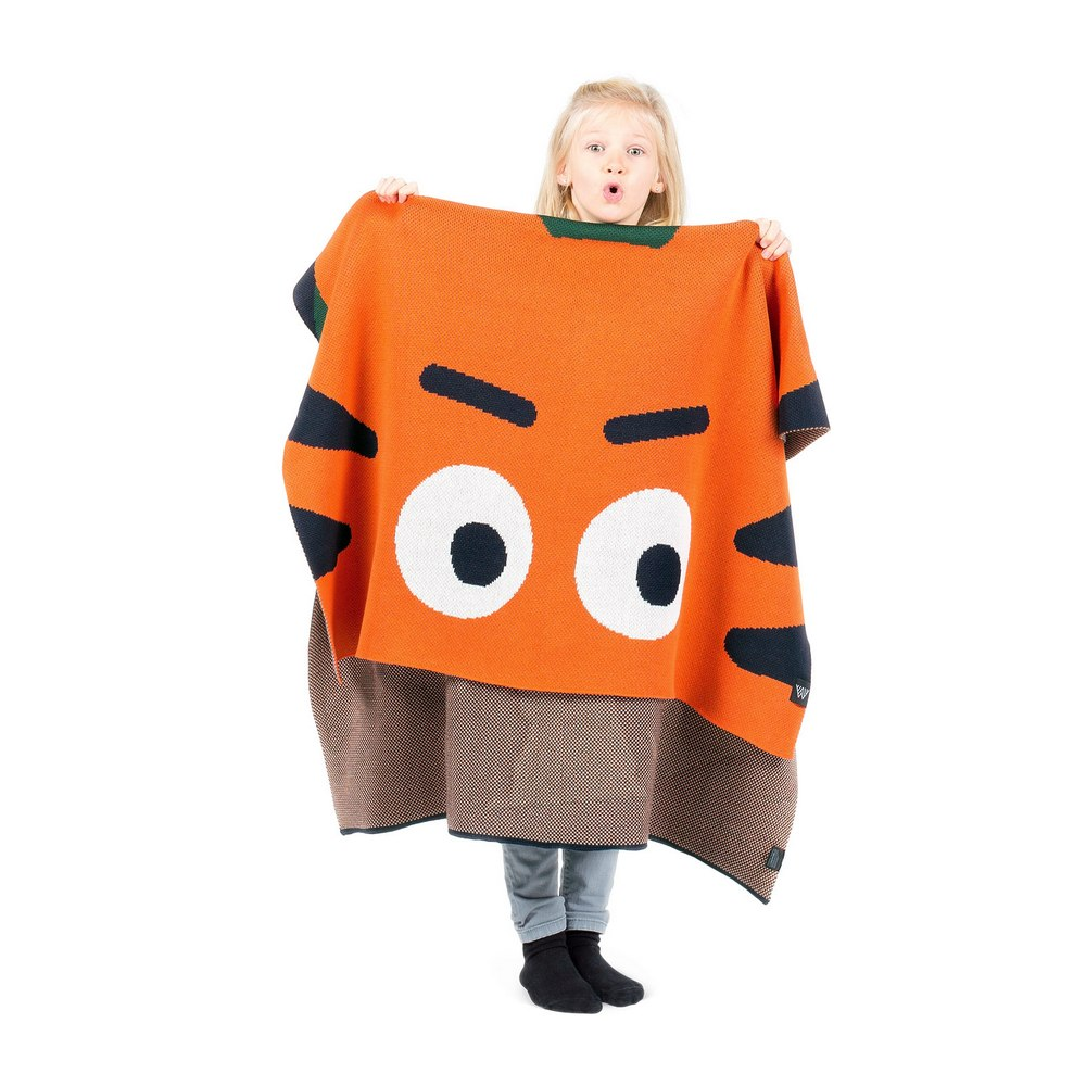 Плед детский Woolkrafts Tiger оранжево-зеленый