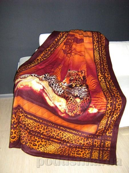 Плед флисовый Любимый дом Леопард