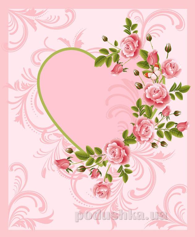 Плед флисовый Любимый дом Сердце