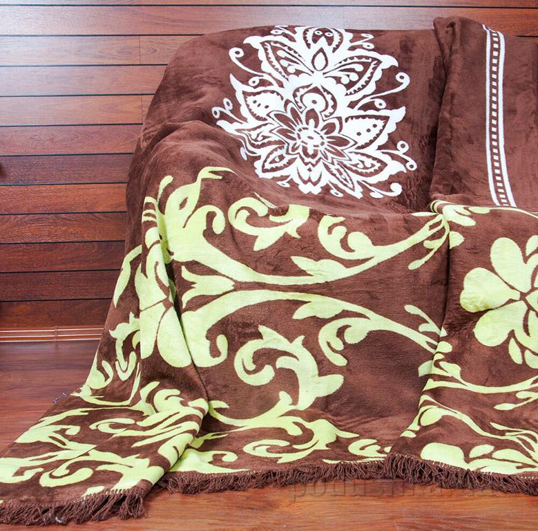 Плед Lotus Saray коричневый 200х220 см  Lotus