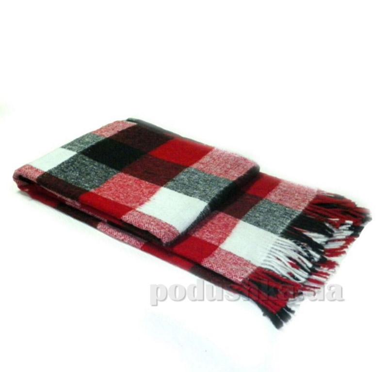 Плед Влади Palermo 7 красно-черно-белый