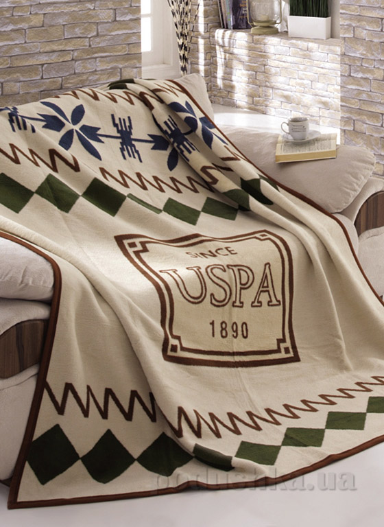 Плед U.S. Polo Assn Nogales бежевый