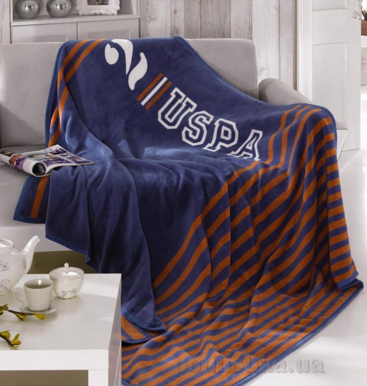 Плед U.S. Polo Assn Nome синий