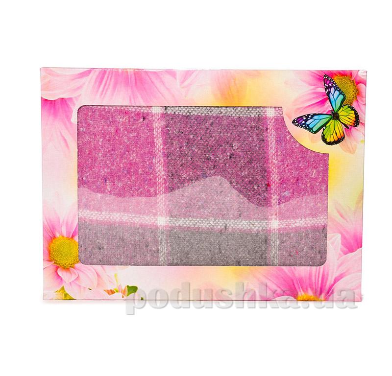 Плед Влади № 2 серо-розовый клетка