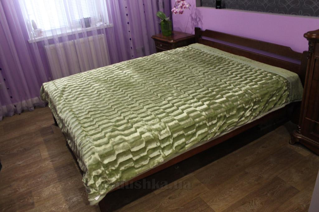 Плед-покрывало меховое Dreams Malva 061-04 оливковое