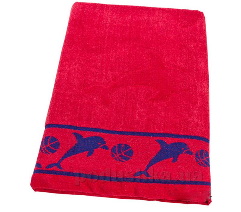 Пляжное полотенце Belle-Textile Дельфин Red