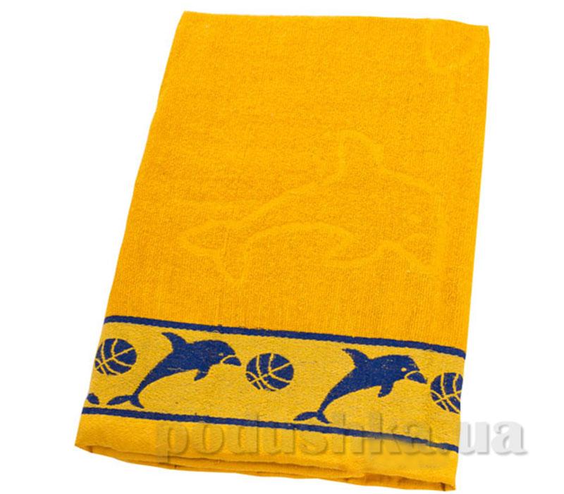 Пляжное полотенце Belle-Textile Дельфин Yellow