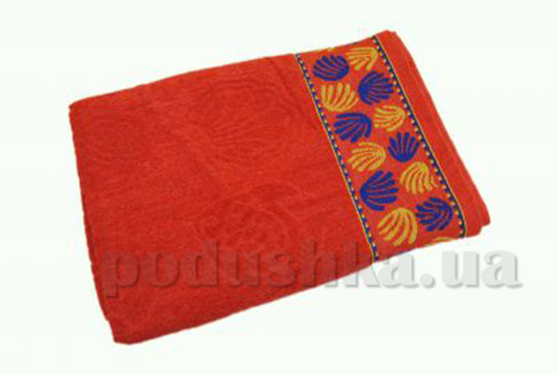 Пляжное полотенце Belle-Textile Ракушка Red