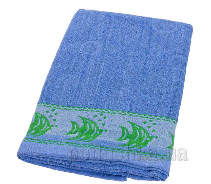 Пляжное полотенце Belle-Textile Рыбки Light blue