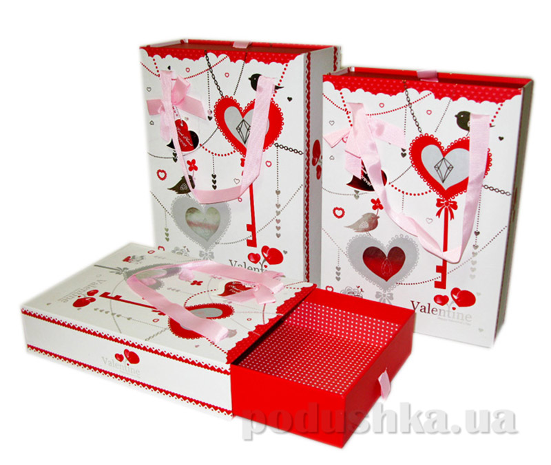 Подарочная коробка с ручками Valentine