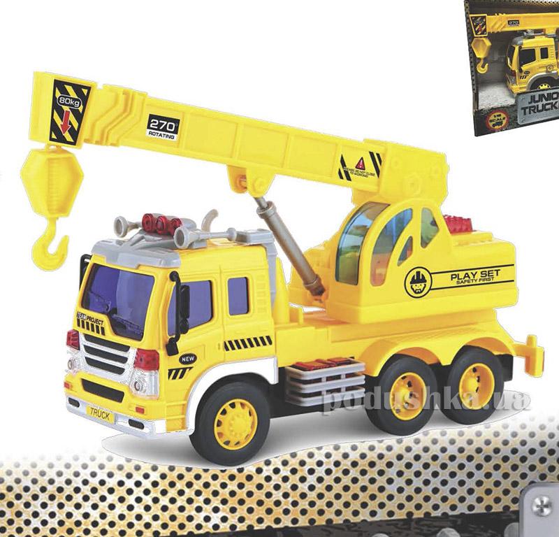 Подъемный кран Junior Trucker 28 см со светом и звуком Dave Toy 33025   Dave Toy