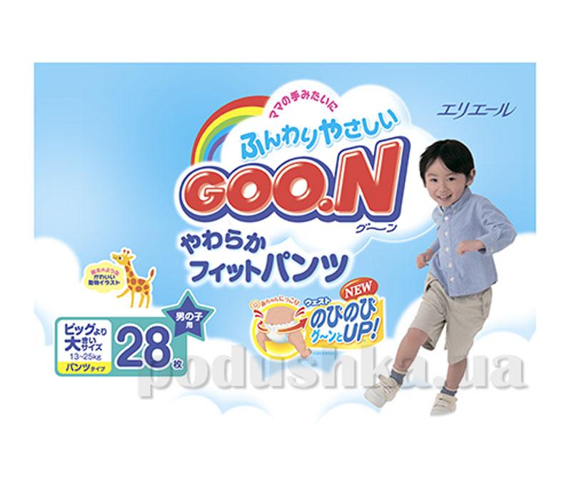 Подгузники - трусики ВВ/Огромный, для мальчиков Goo.N