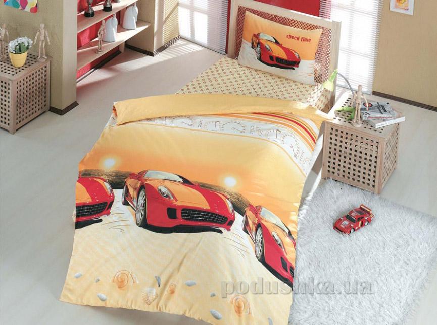 Подростковое постельное белье Altinbasak Speed time kirmizi