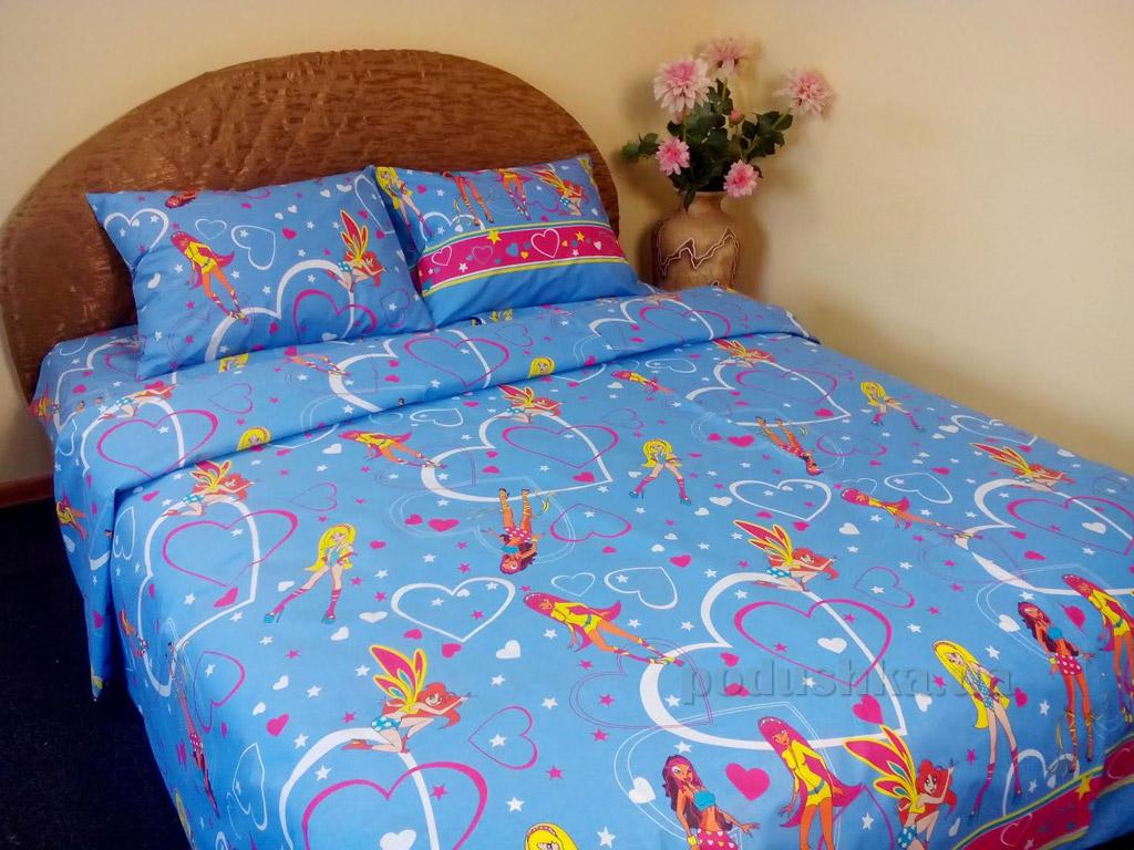 Подростковое постельное белье Билана Феи голубое